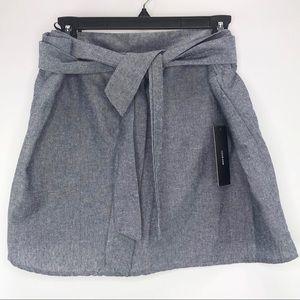 Lulu's Chambray Denim Mini Skirt Size XL